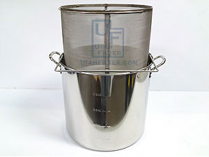 stainless beer brewing brew in a basket kettle combination package