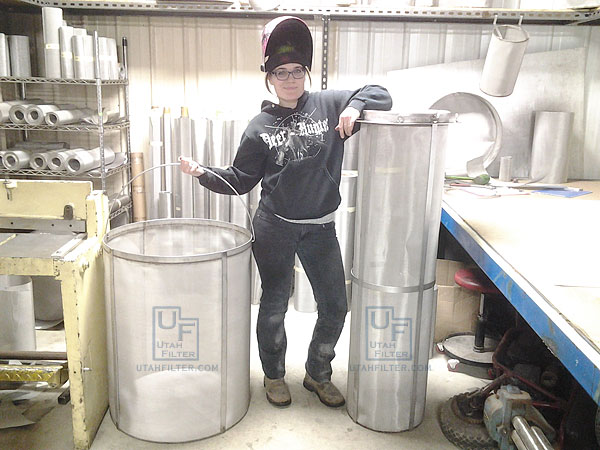 Stainless steel bucket filters 400 177 and 74 micron for 100 gallon pond pump filter