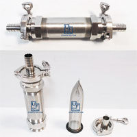 6 inch inline stainless filter