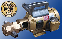 The ultimate waste oil transfer pump, the goldstream monster gear pump in 25 and 12 gallons per minute